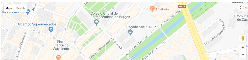 mapa registro civil burgos